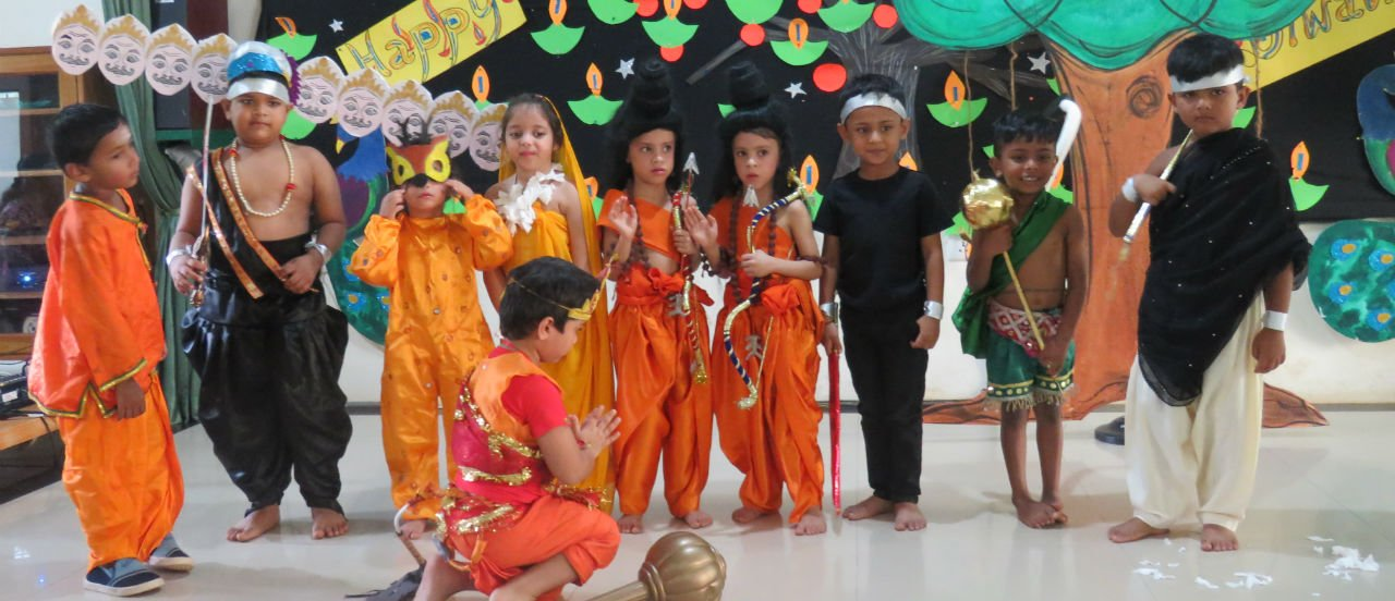 Diwali Celebration 2018<i>The Epic Ramayana Scene-By our tiny tots</i>